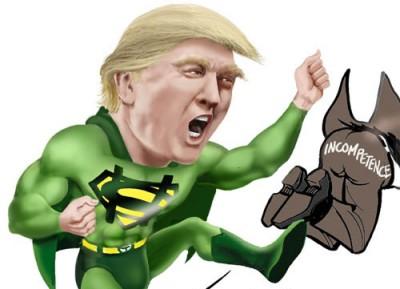 trump superhero Marvel donation
