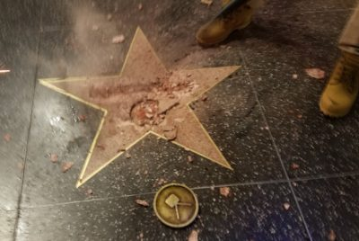trump-walk-of-fame-star-distroyed