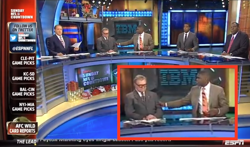 unconscious Mike Ditka as ESPN