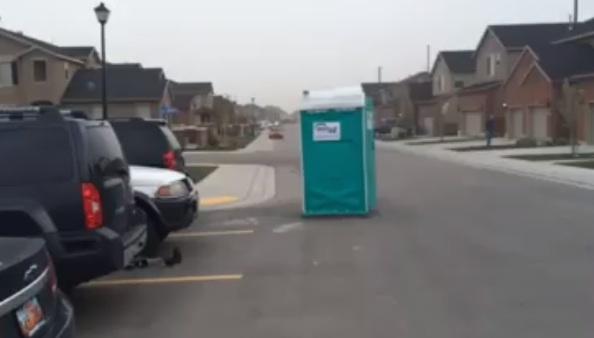 utah portapotty wind