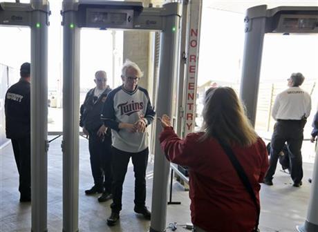 walk-thru metal detectors dodgers stadium