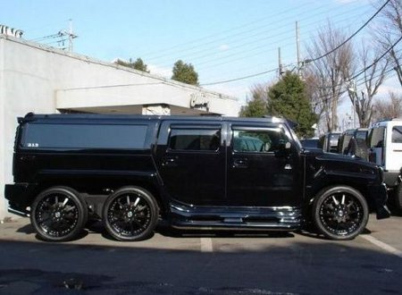 *Exclusive* Justin Bieber Custom 6 Wheel Hummer