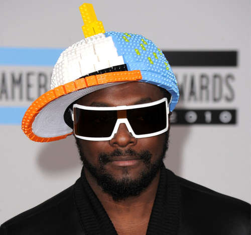 will.i.am in lego ball cap