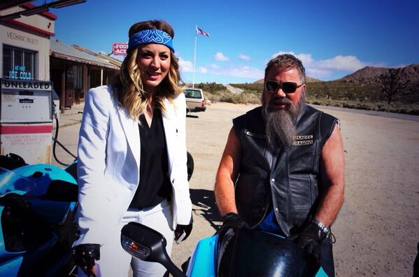 william shatner biker Have You Seen William Shatners New BIKER LOOK?