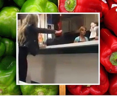 woman meltdown green red peppers 9 400x327 Mexi Meltdown After Woman Receives Green Peppers Instead Of Red