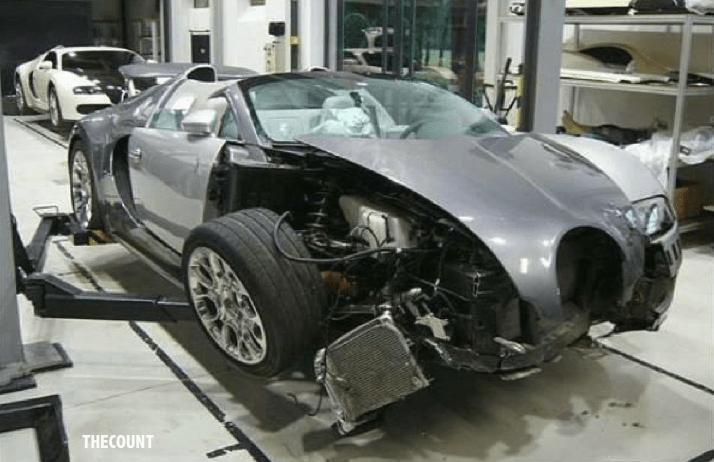 wrecked bugatti veyron Honey, I Just Totalled Our $2 Million Bugatti Veyron