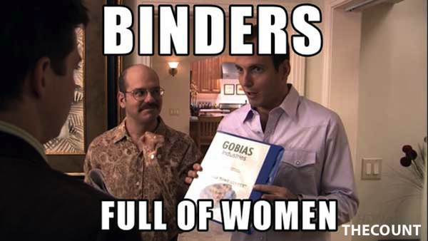 xlarge Mitt Romney Binders Full of Women Memes