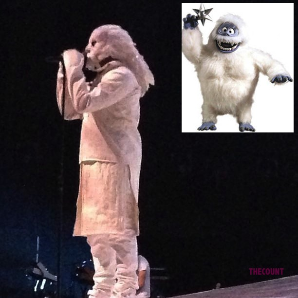 ye3 Kanye West Abominable Snowman Costume