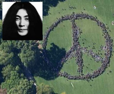 yoko ono peace sign attempt central park 2 400x330 Yoko Ono Gave Peace A Chance, Failed
