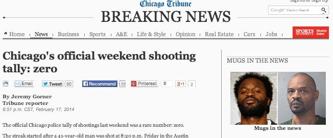 zero shootings chicago